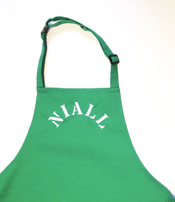 Personalised Green Apron
