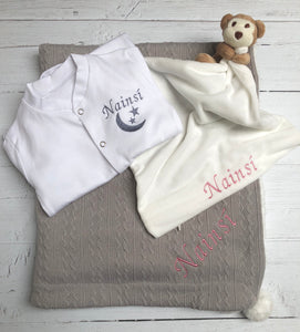 Personalised Baby Gift Set - Grey