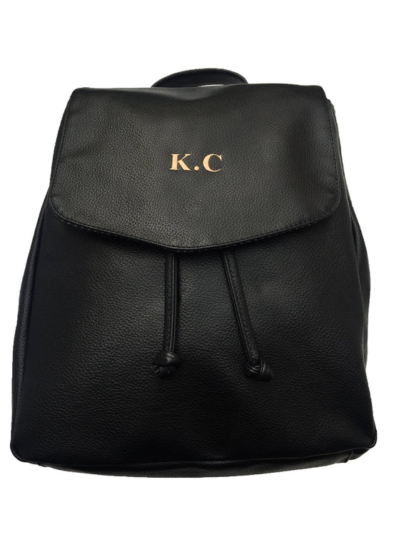 Personalised Faux Leather Backpack