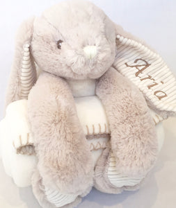 Personalised Rabbit and Blanket
