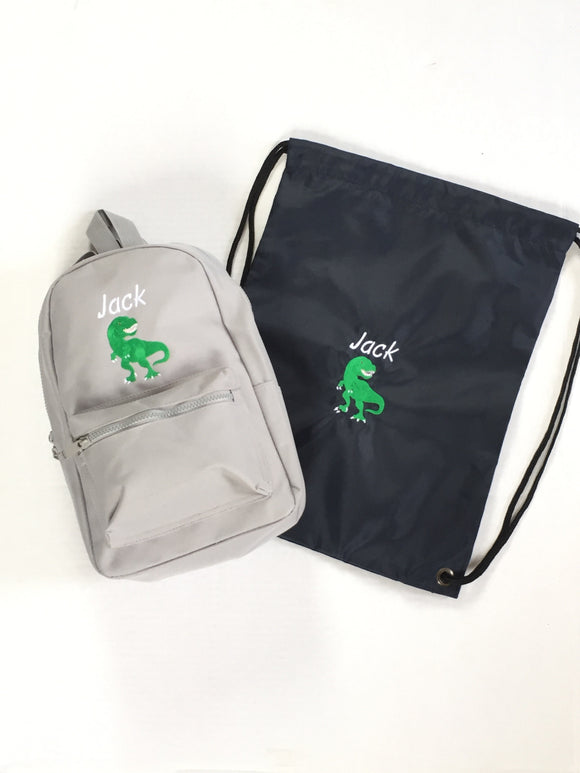Matching Dinosaur School Set