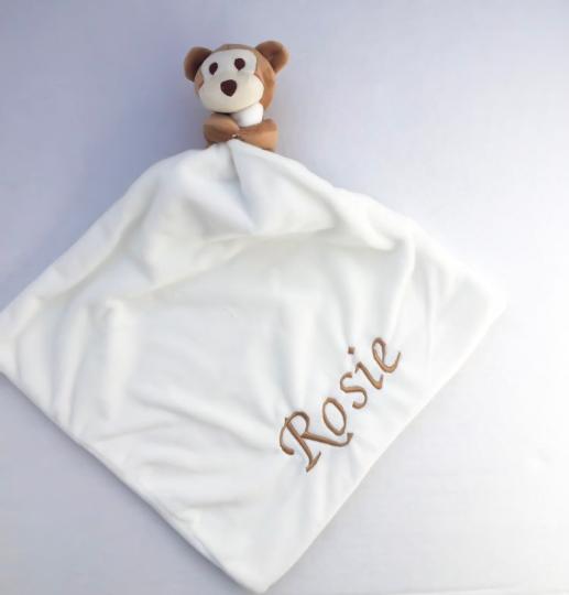 Personalised Monkey Comforter