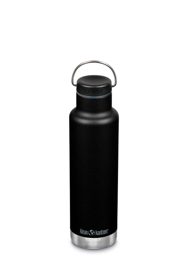 Klean Kanteen Classic Insulated Water Bottle in 20oz Shale Black Color