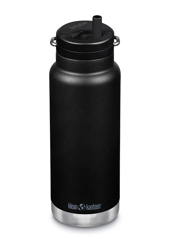 32 oz Water Bottle with Straw - Black