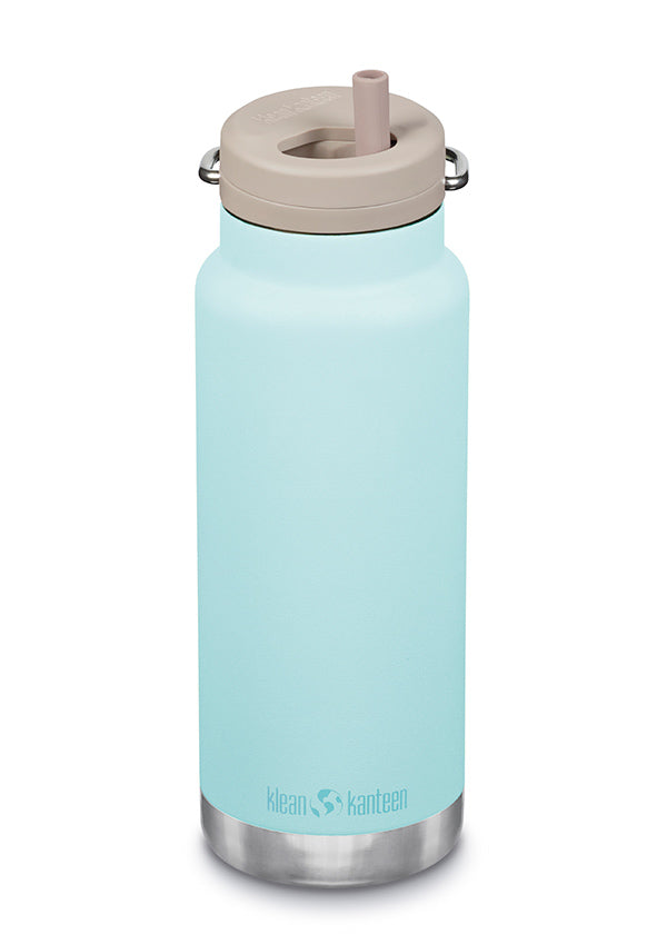 32 oz Water Bottle with Straw - Blue