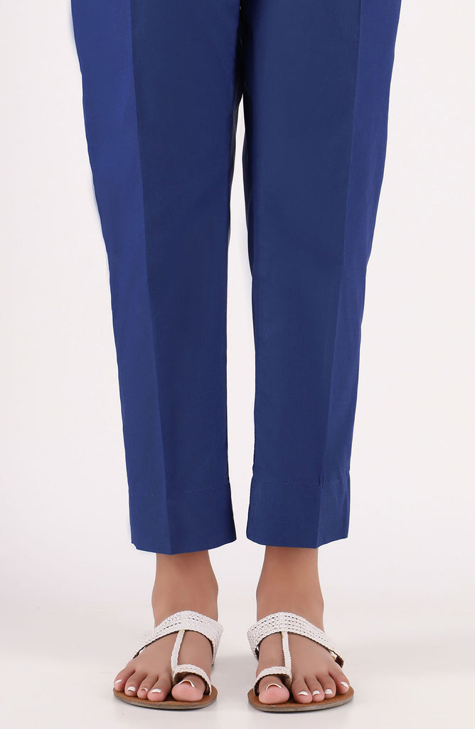 Stitched Basic Cambric Pants- Blue