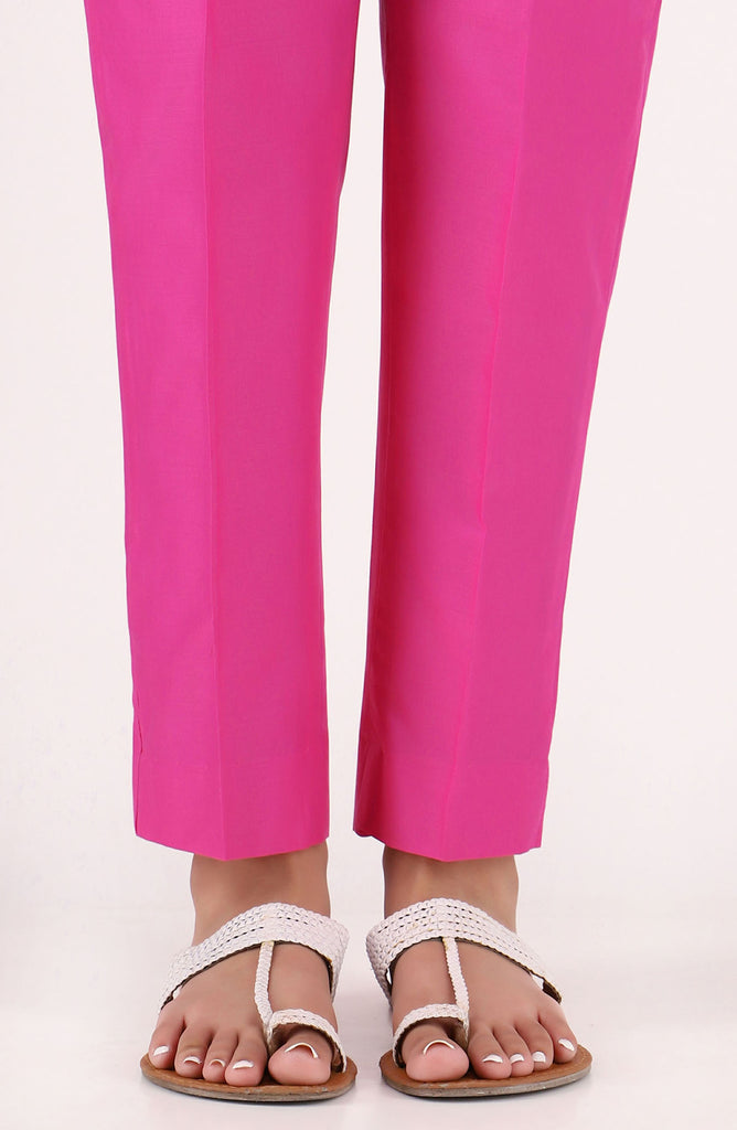 Stitched Basic Cambric Pants- Pink