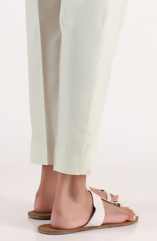 Stitched Basic Cambric Pants- Beige