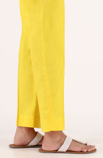 Stitched Basic Cambric Pants- Yellow