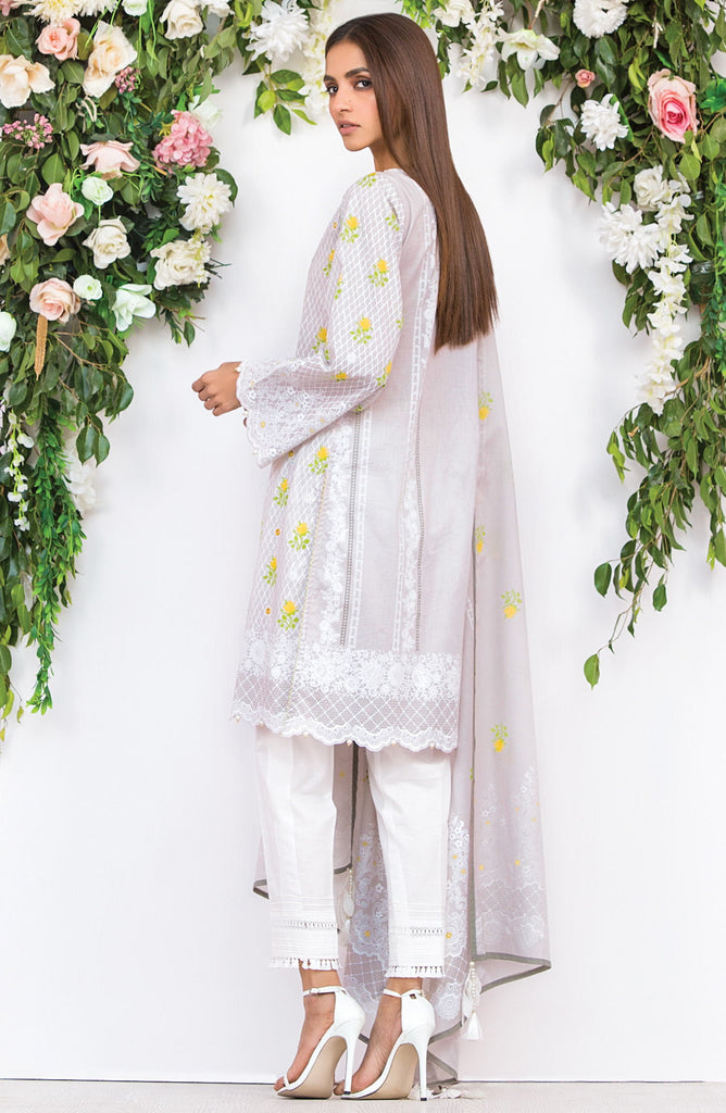 Unstitched 2 Piece Embroidered Lawn Suit