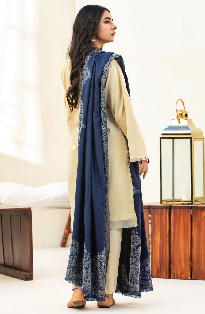 Unstitched 3 Piece Embroidered Cottel Suit