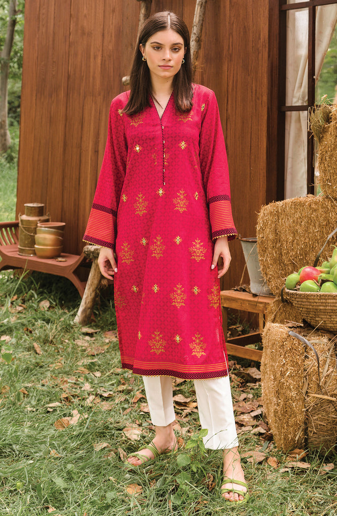 Stitched 1 Piece Mirror-Work Embroidered Karandi  Shirt