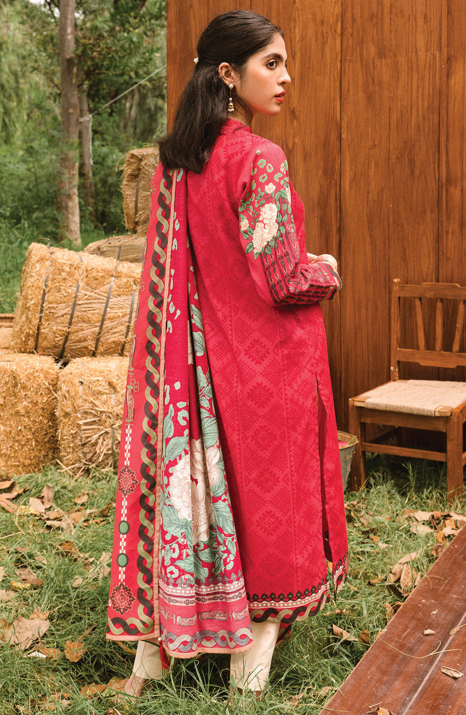 Pink Unstitched Cottel Shirt and Dupatta