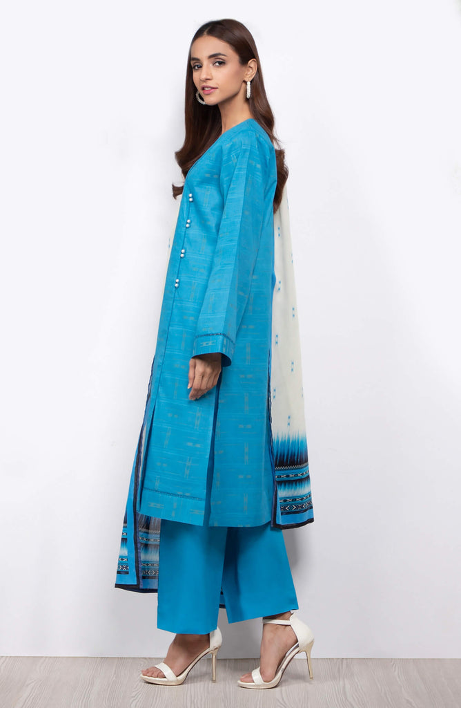 Unstitched 3 Piece Dyed Jacquard Suit