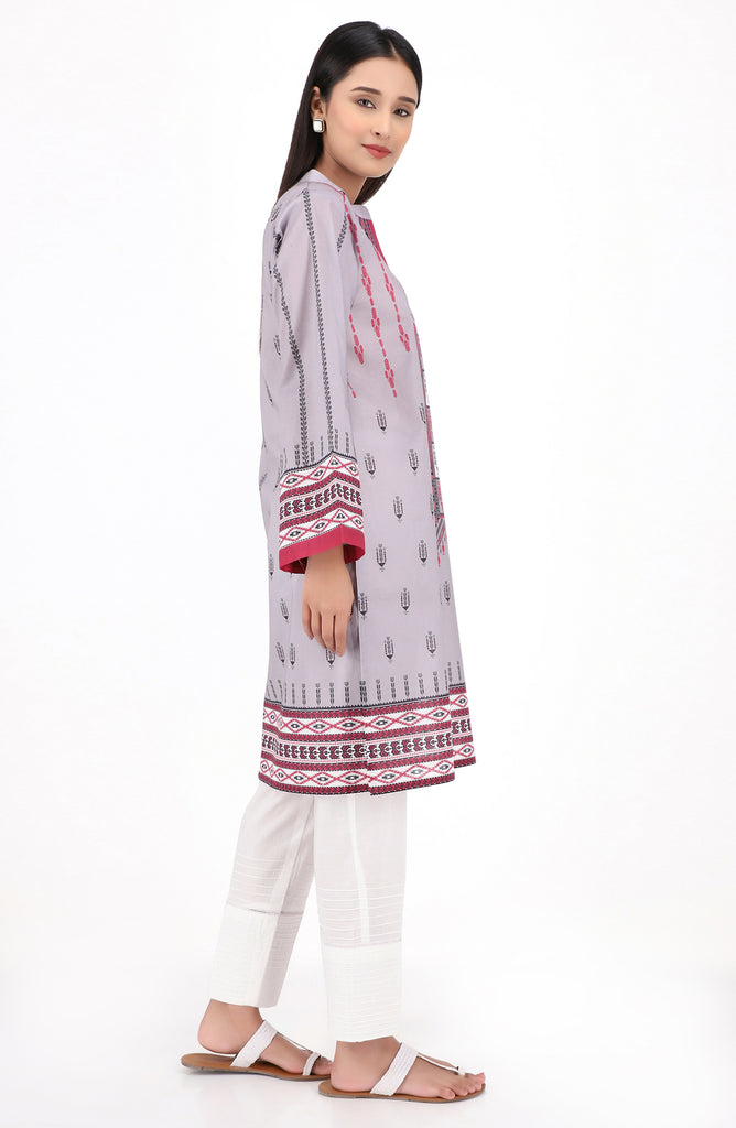 Unstitched 1 Piece Printed Lawn Shirt