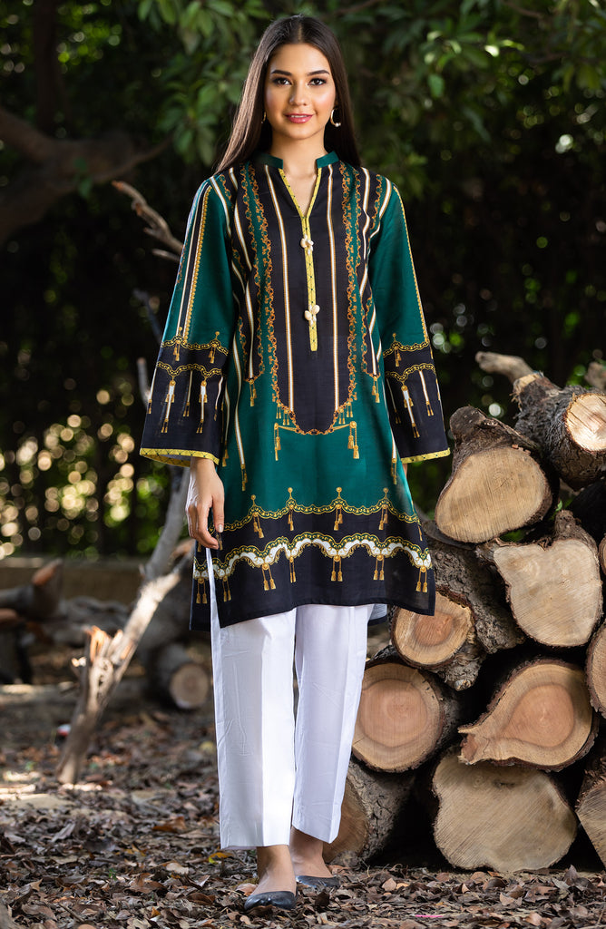 Unstitched 1 Piece Printed Khaddar Shirt