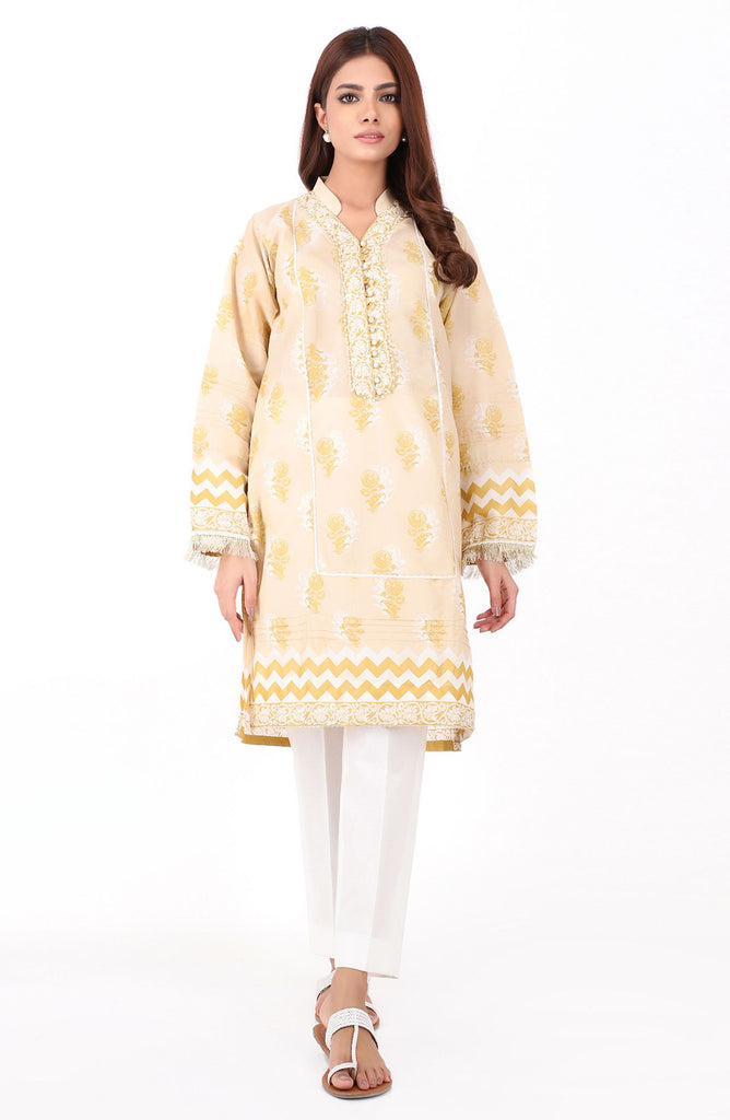 Stitched 1 Piece Pearl Printed Lawn Shirt