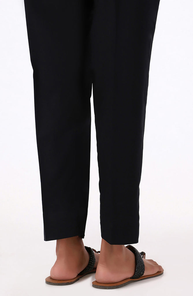 Stitched Basic Cambric Pants- Black