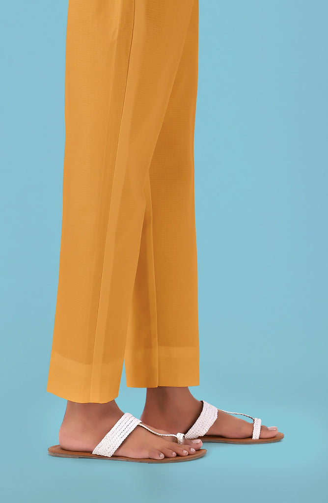 Unstitched Cambric Bottom Fabric- Yellow
