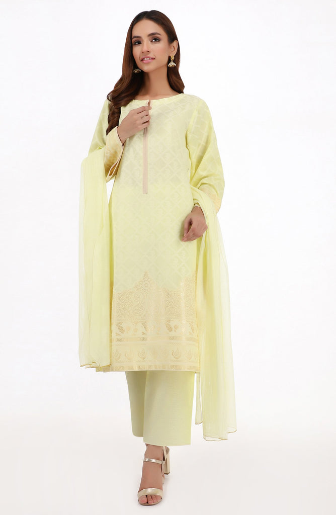 Unstitched 3PC Premium Jacquard Suit
