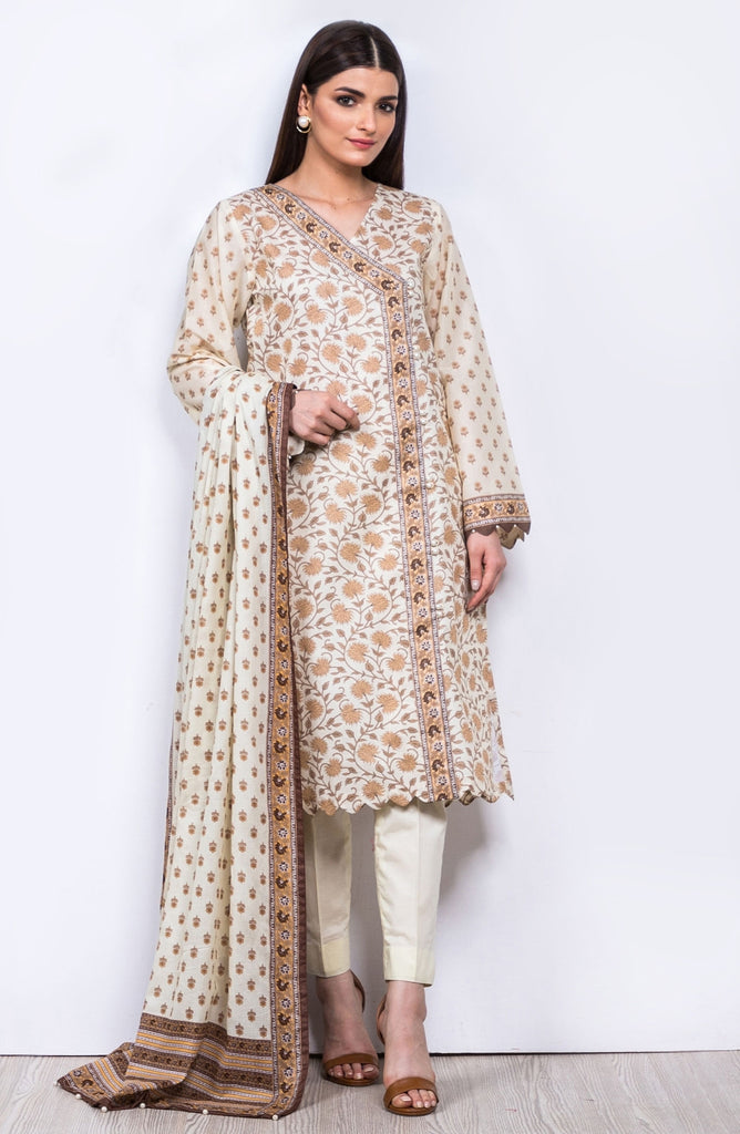 Unstitched 2 Piece Printed Lawn Suit