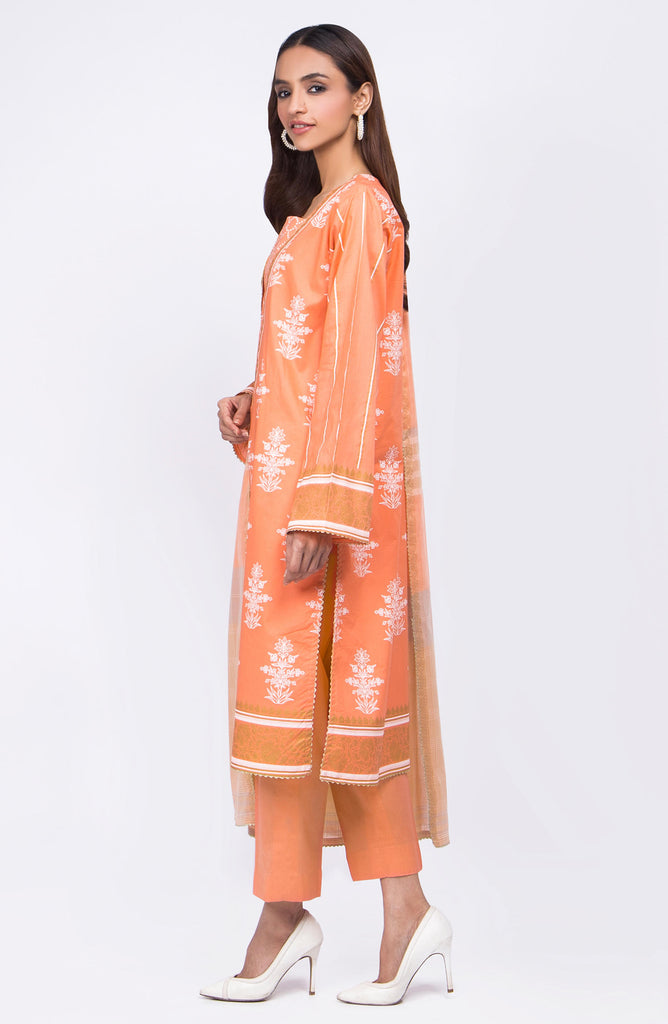 Unstitched 3 Piece Pearl Printed Lawn Suit