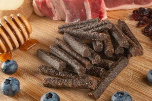 These soft and chewy sticks are made with meat as the first two ingredients. Your dog is going to love the combination of lamb, duck and the other delicious ingredients in this treat.
