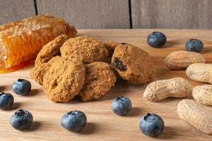 These soft and chewy dog treats are the perfect, natural treat for your dog.