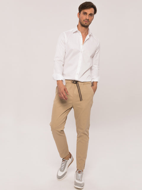 Pantaloni Casual Leisure Fit Crem BMan454 (5)