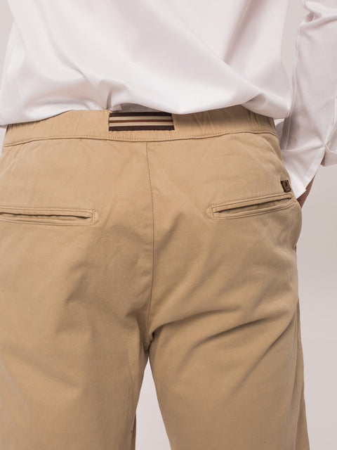 Pantaloni Casual Leisure Fit Crem BMan454 (3)
