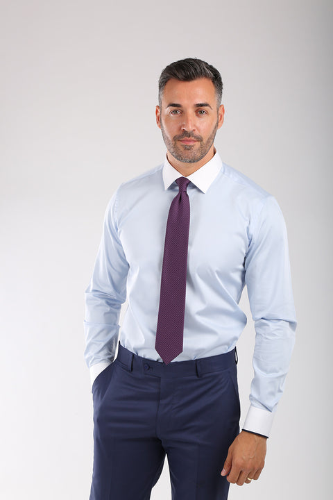 Camasa Slim Fit Bleu - Bman566 (1)