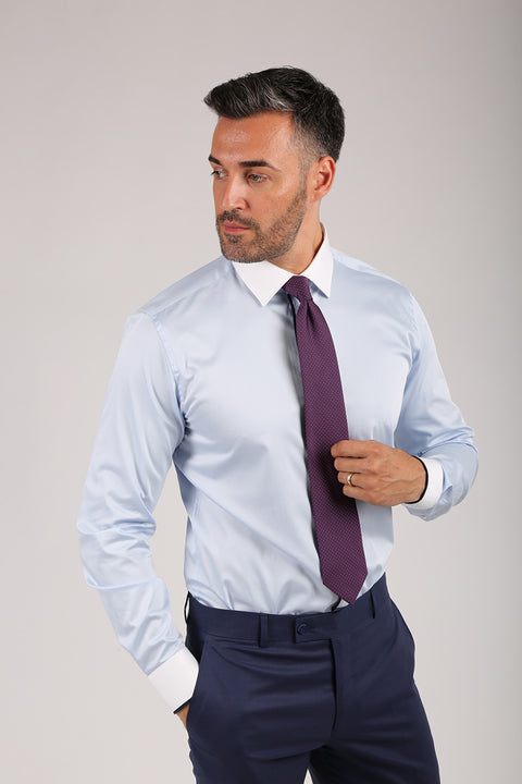Camasa Slim Fit Bleu - Bman566 (3)