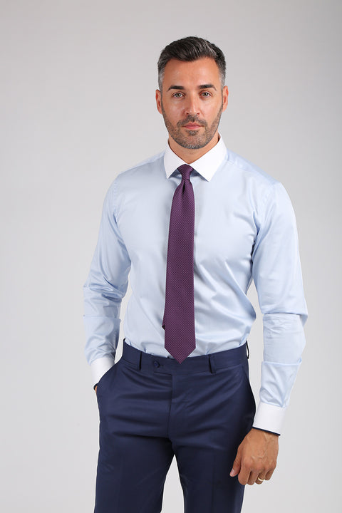 Camasa Slim Fit Bleu - Bman566 (5)