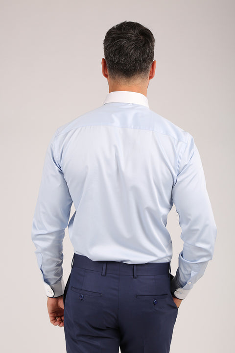 Camasa Slim Fit Bleu - Bman566 (6)