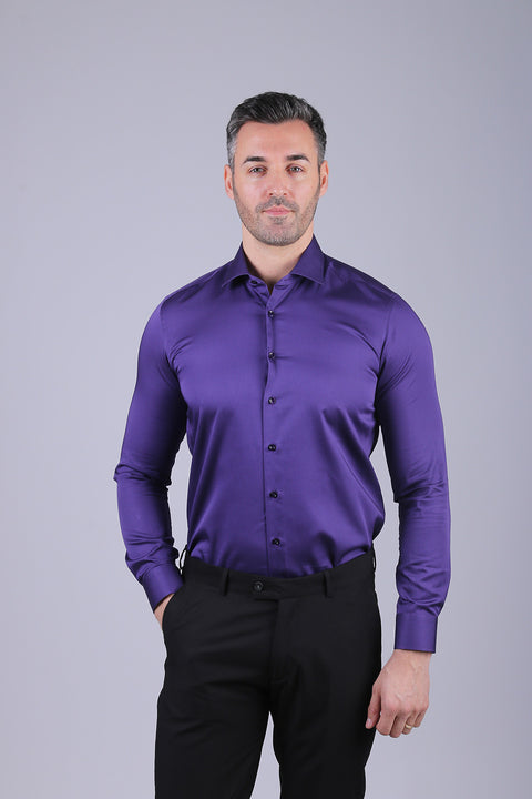 Camasa Slim Fit Mov - Bman524 (1)