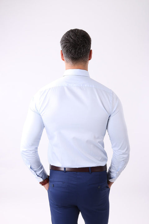 Camasa Slim Fit Bleu cu Ac Pin - Bman503 (10)