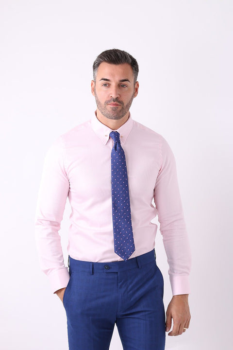 Camasa Slim Fit Roz Pal cu Ac Pin - Bman502 (1)