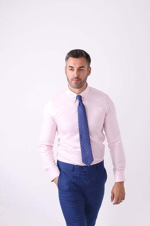 Camasa Slim Fit Roz Pal cu Ac Pin - Bman502 (6)