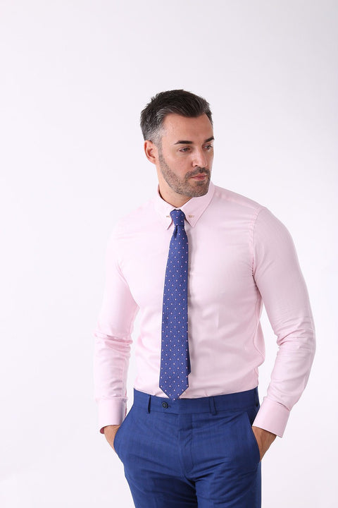 Camasa Slim Fit Roz Pal cu Ac Pin - Bman502 (8)