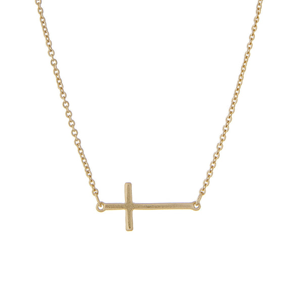 Cross Necklace | Gold