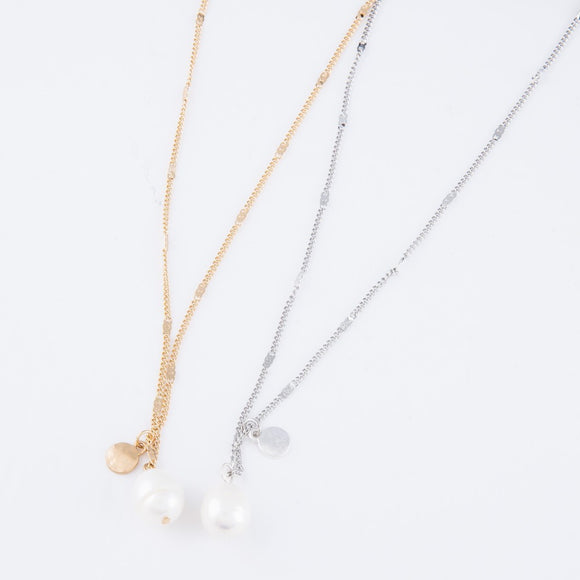 Pearl Pendant Necklace | 2 colors