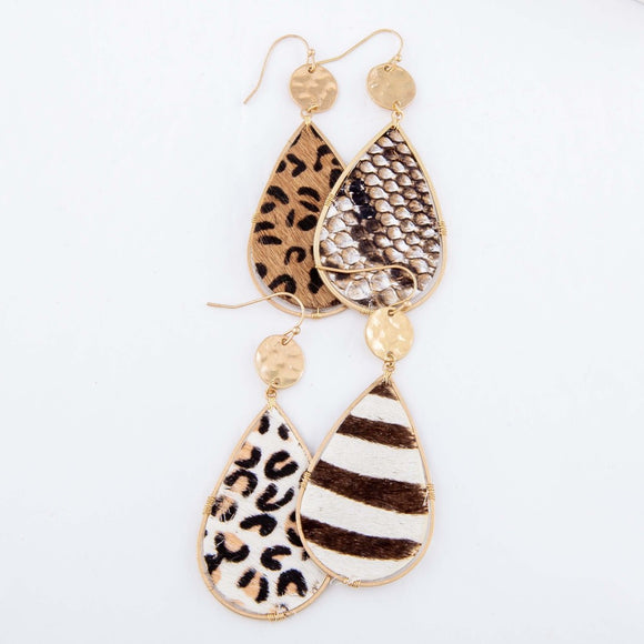 Hide Teardrop | Earrings