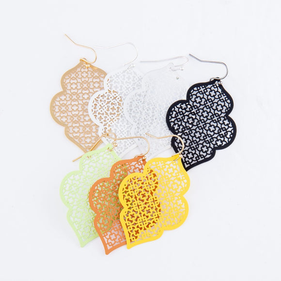 Quatrefoil Filigree Earrings | 3 colors