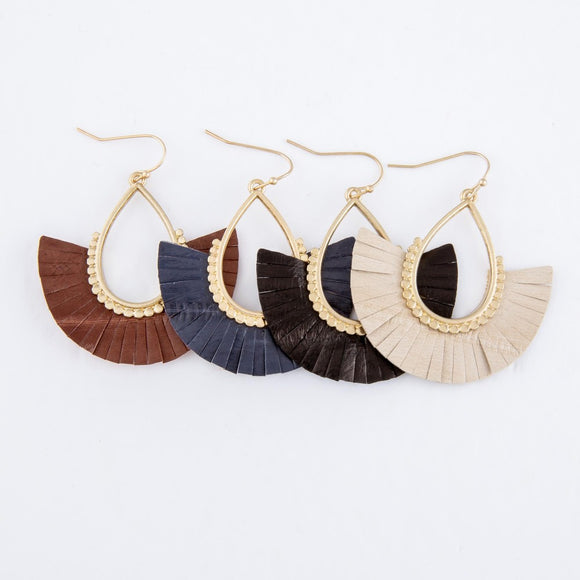 Tassel Leather Earrings