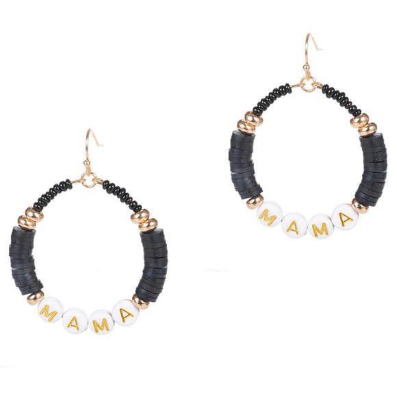 Mama Beaded Earrings