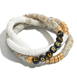 Courage Stackable Bracelets