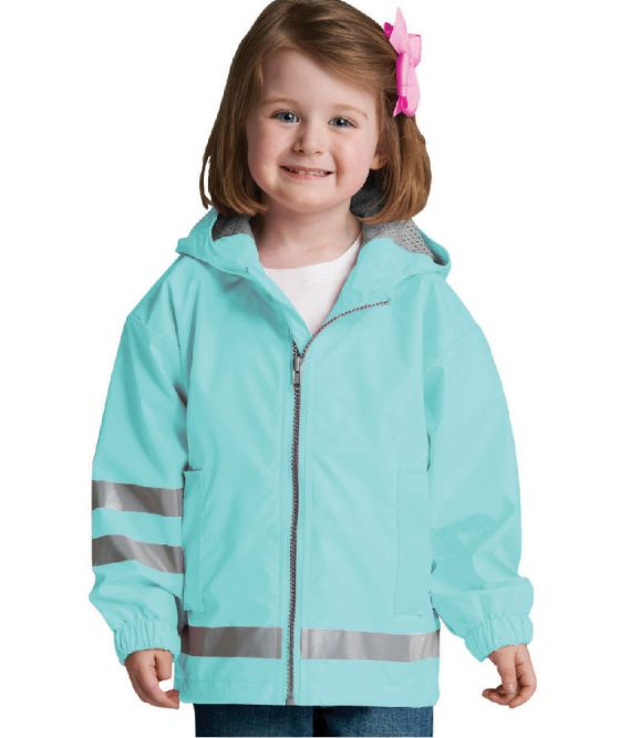Toddler New Englander Rain Jacket - Aqua