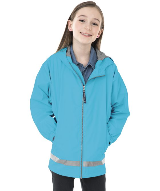 Youth New Englander Rain Jacket - Wave