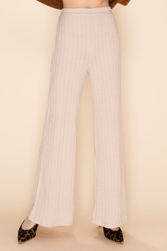 Ribbed Wide Leg Sweater Pants