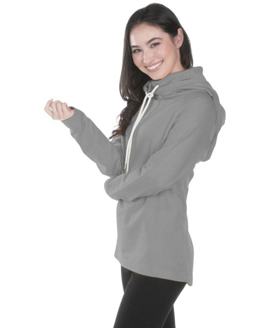 Women's Essex Hood & Cowl Tunic - Heather Grey
